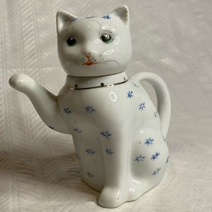 Vintage beckoning kitty cat teapot creamer ceramic